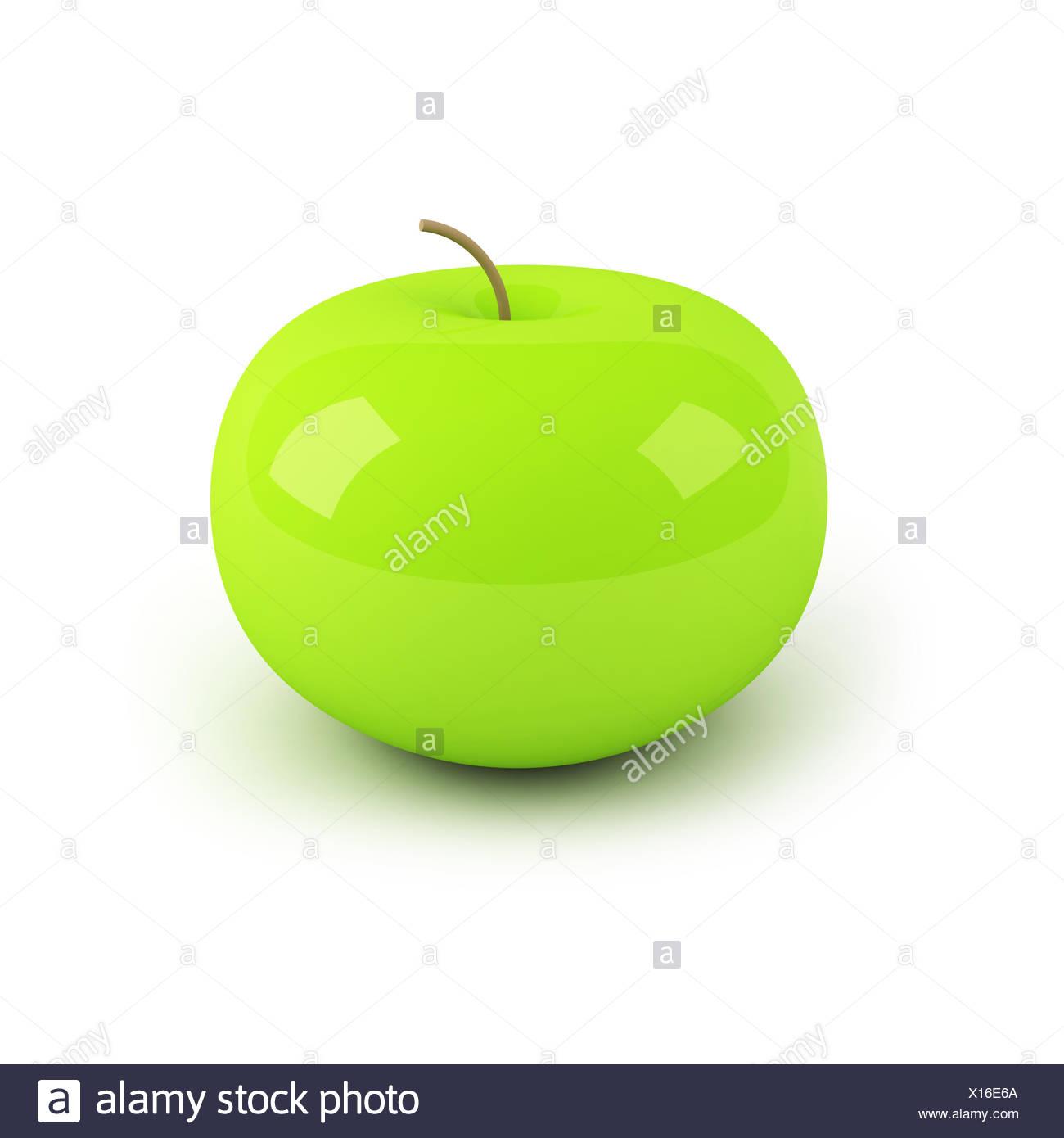 3d apple - Stock Image