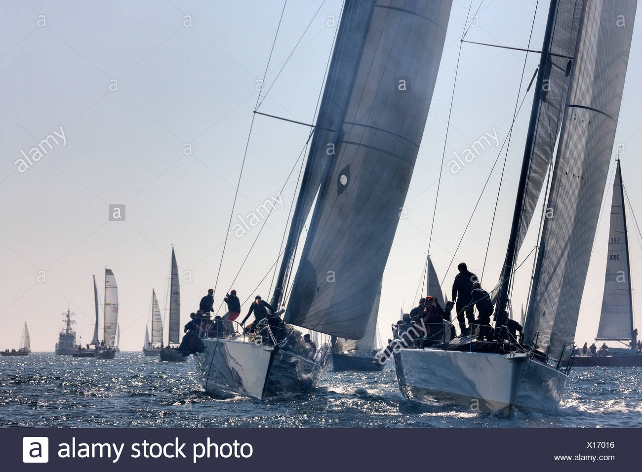An international yachting race near Victoria, British Columbia. - Stock Image