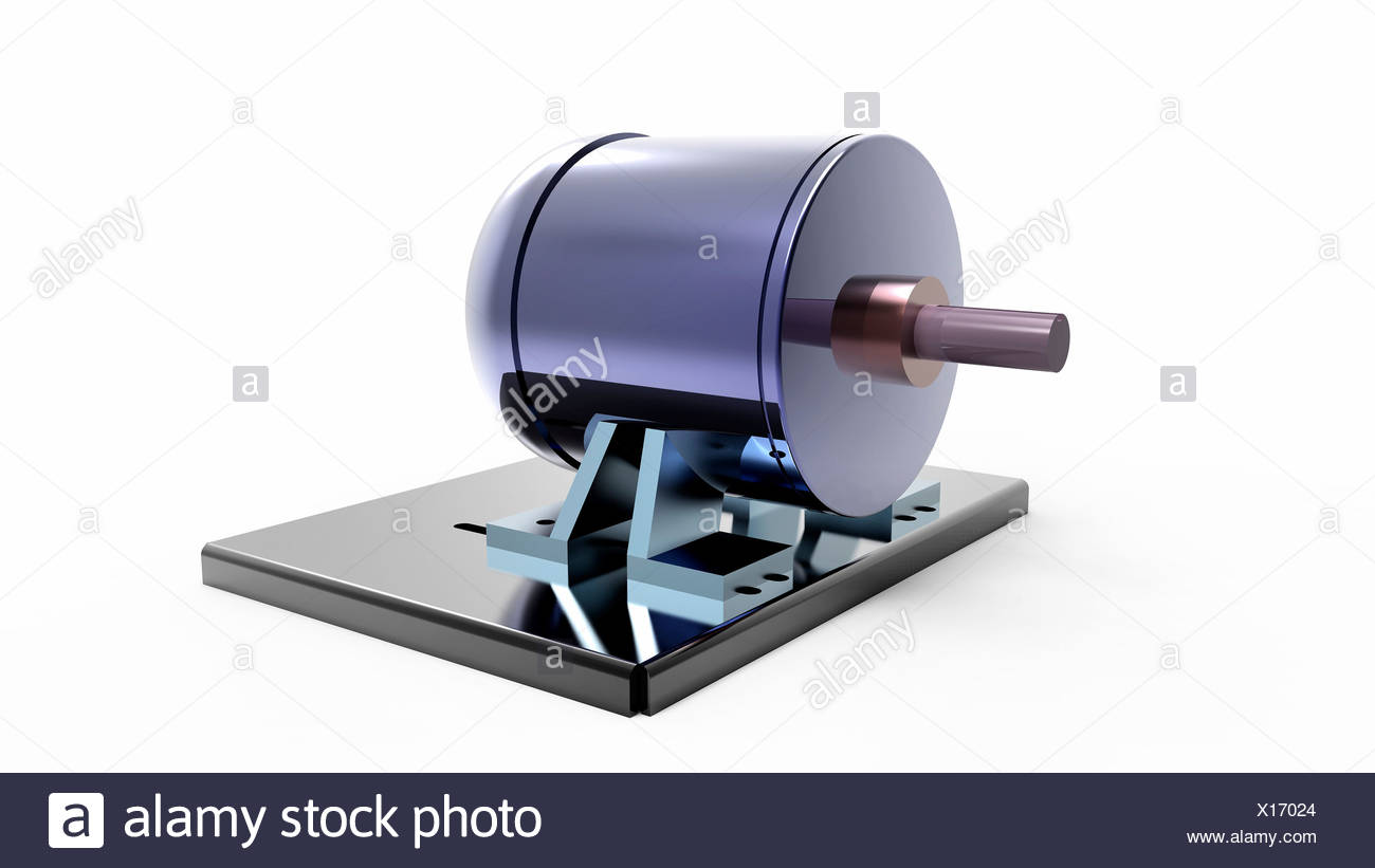 Electric motor, artwork - Stock Image