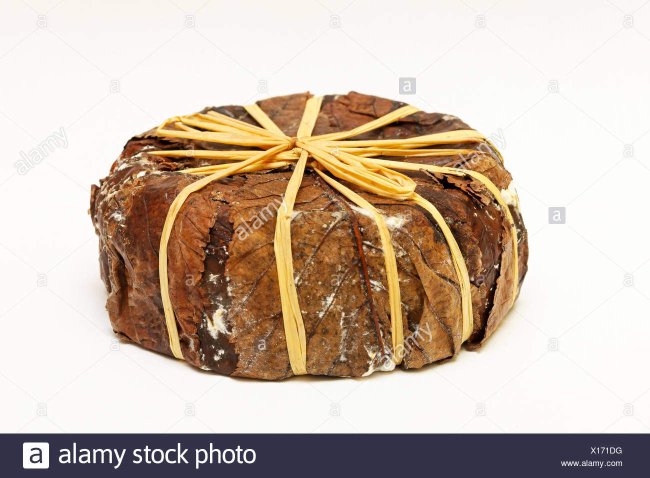 Old chevre cheese - Stock Image