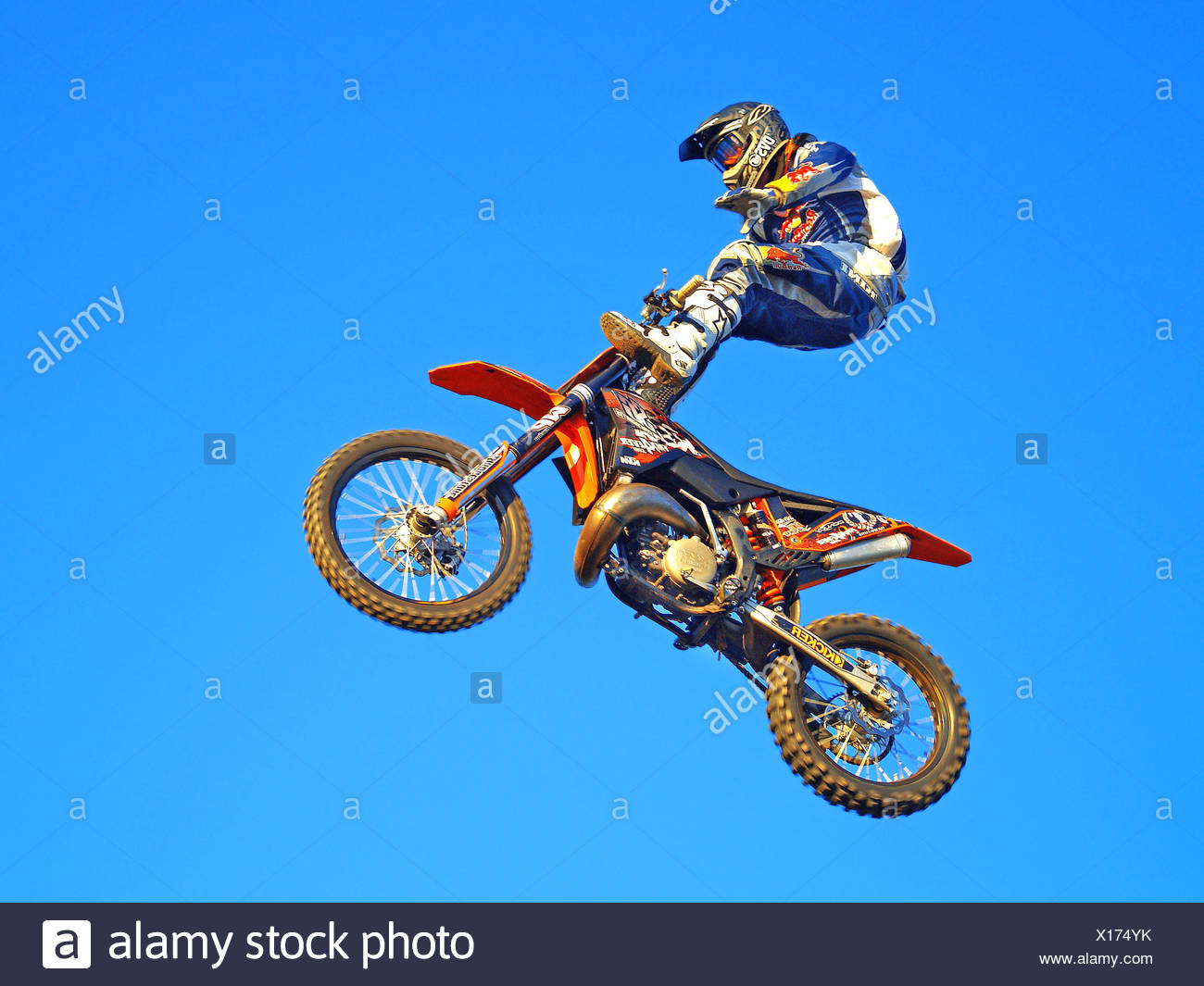 freestyle motocross Stock Photo