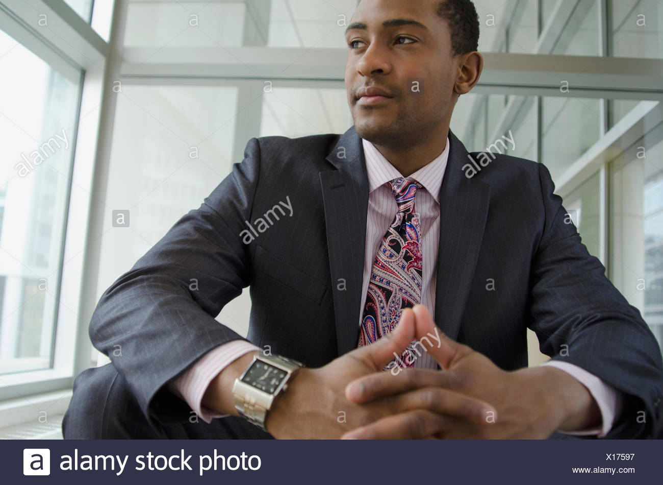 business man contemplating - Stock Image