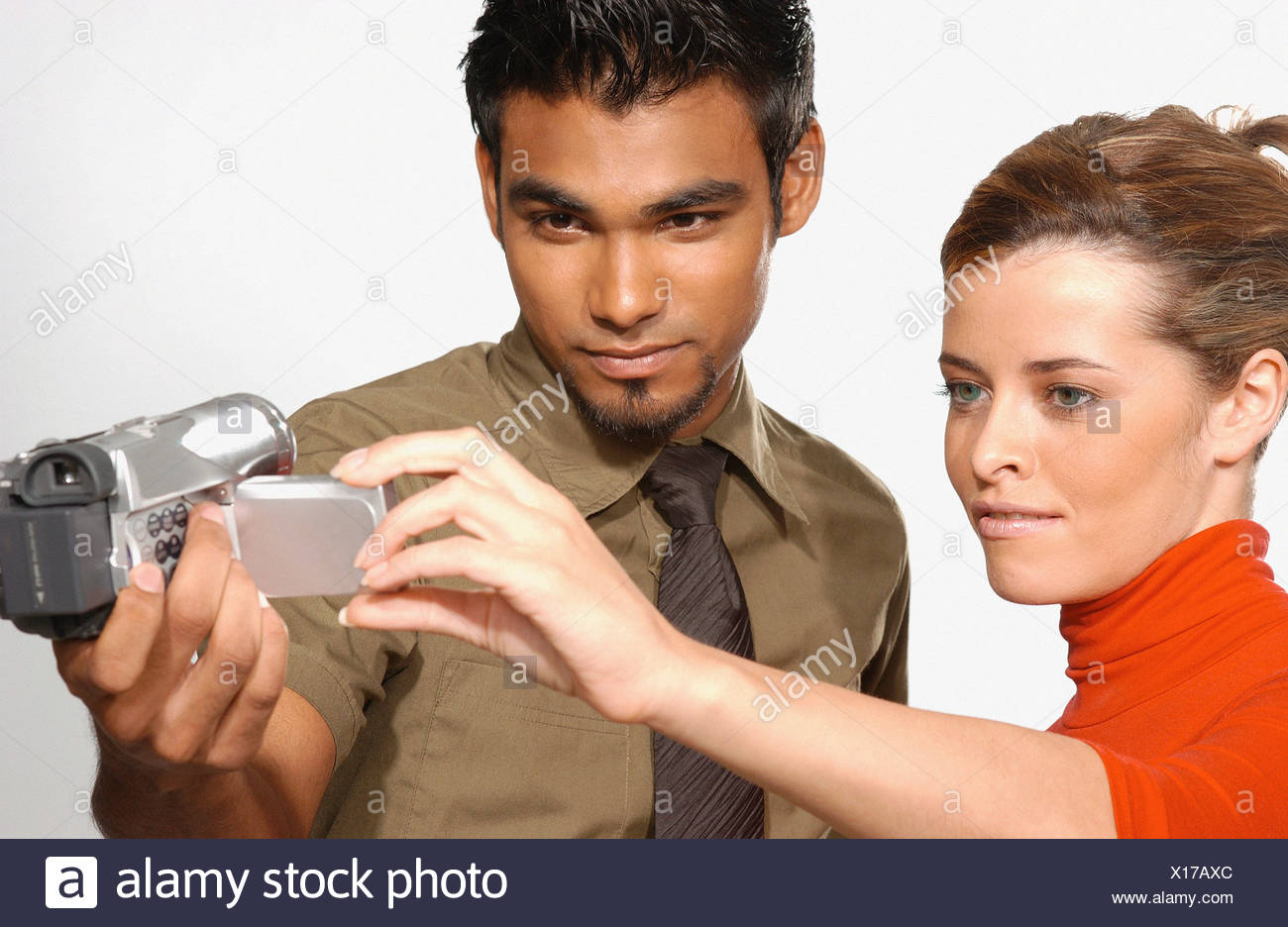 People using video camera - Stock Image