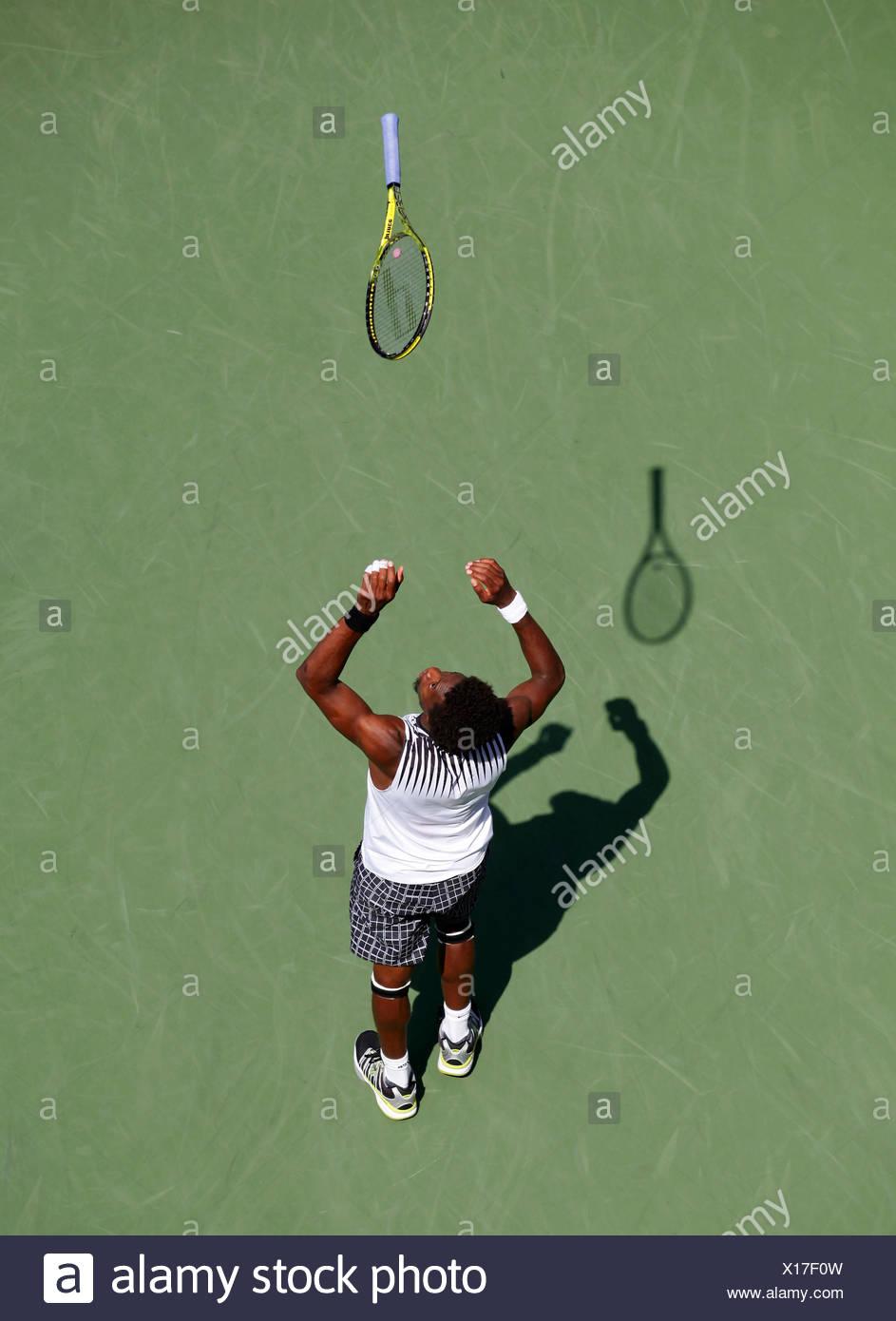 Gael Monfils, French tennis player, US Open 2010, ITF Grand Slam Tennis Tournament, USTA Billie Jean King National Tennis Center - Stock Image