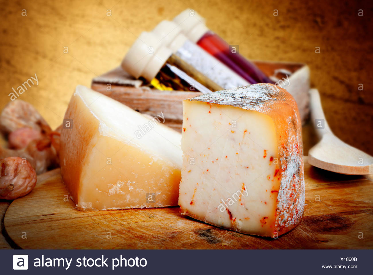 cheese composition - Stock Image