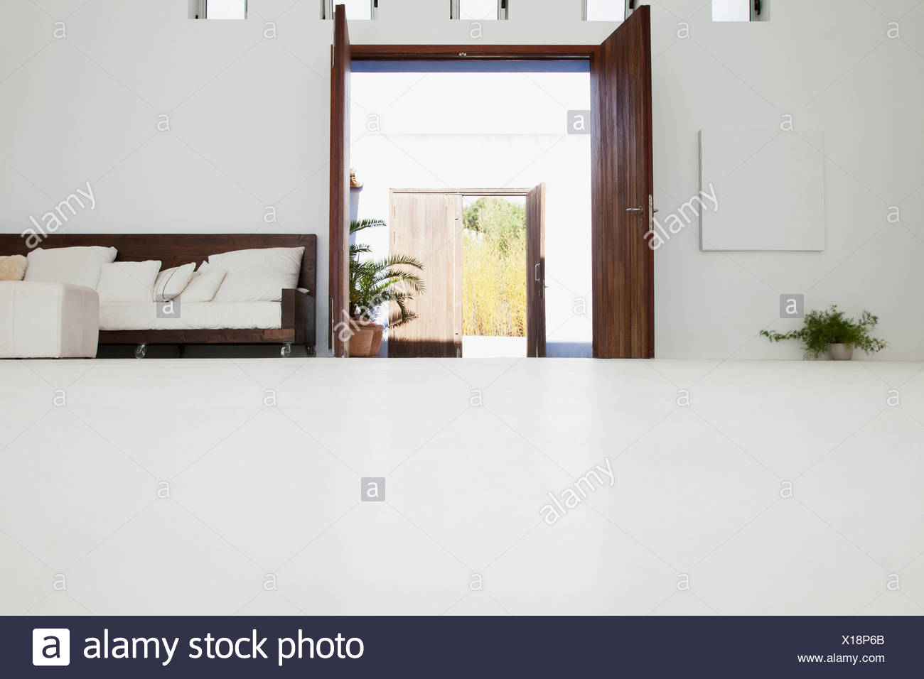 Room in modern house - Stock Image