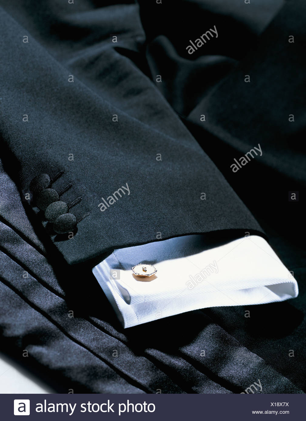 Dinner jacket and shirt - Stock Image