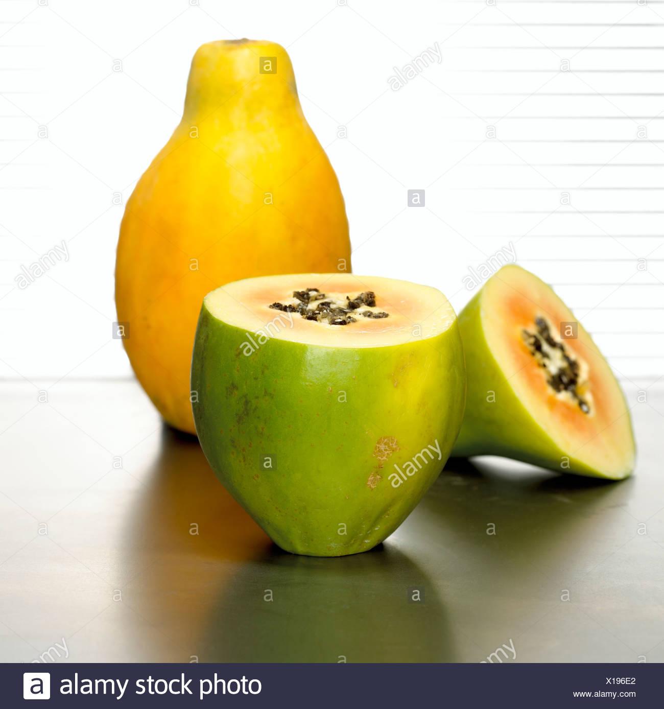 Papayas, close-up - Stock Image