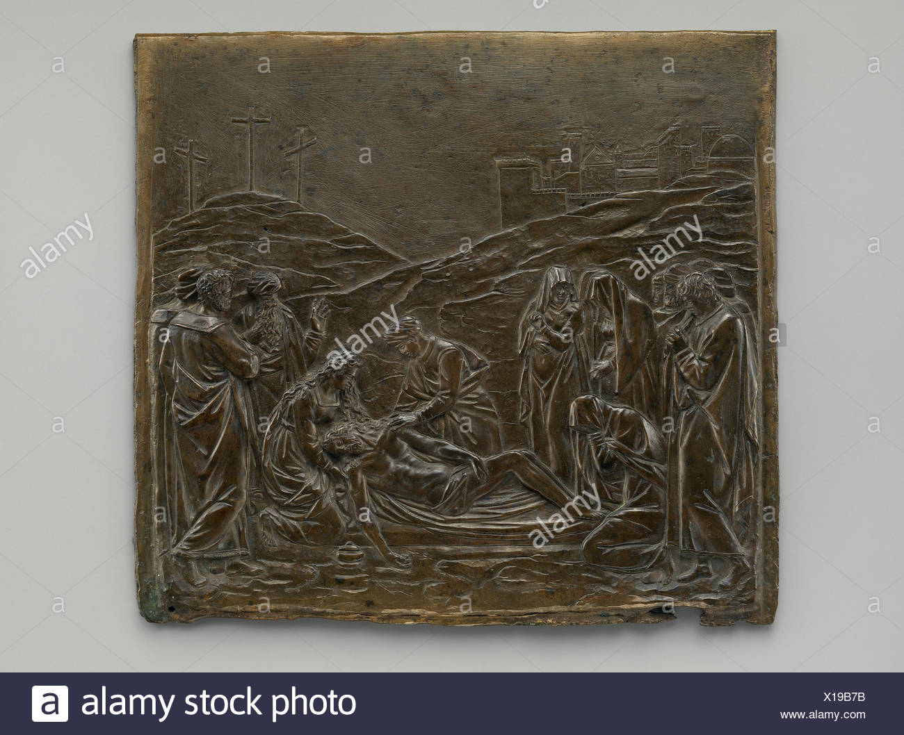 Anointment of the Dead Christ. Maker: Probably cast by Fra Domenico Portigiani; Artist: After a model by Giambologna (Netherlandish, Douai 1529-1608 - Stock Image