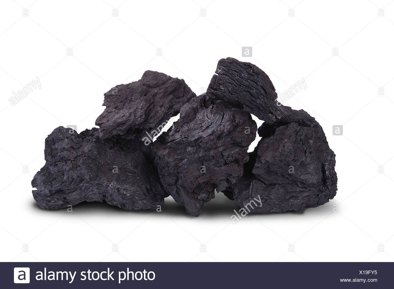 black charcoal - Stock Image