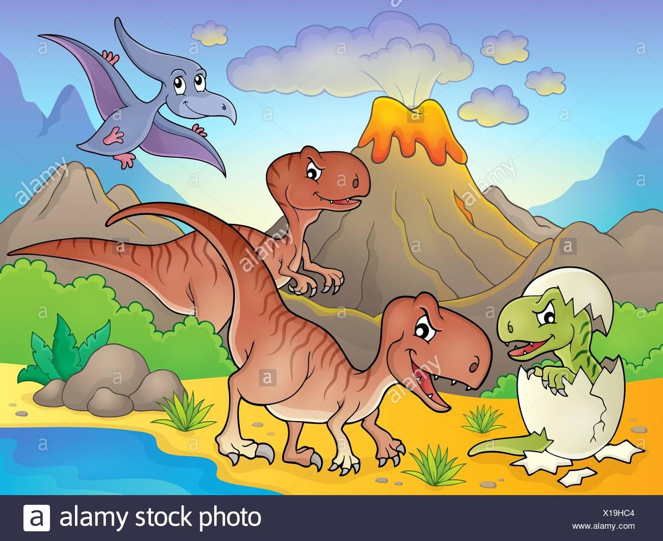 Dinosaur topic image 6 - Stock Image