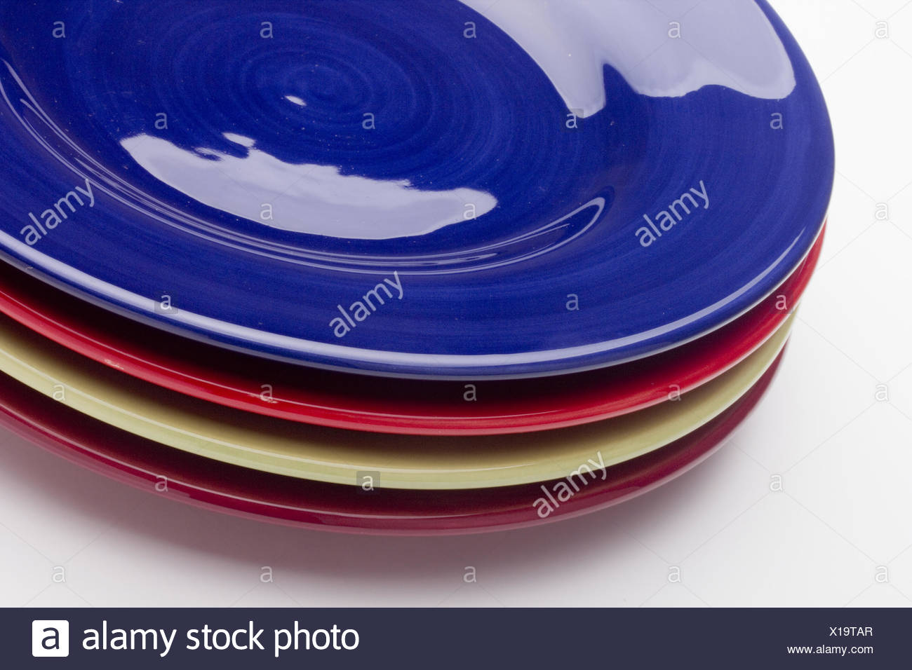 Ceramic plates - Stock Image