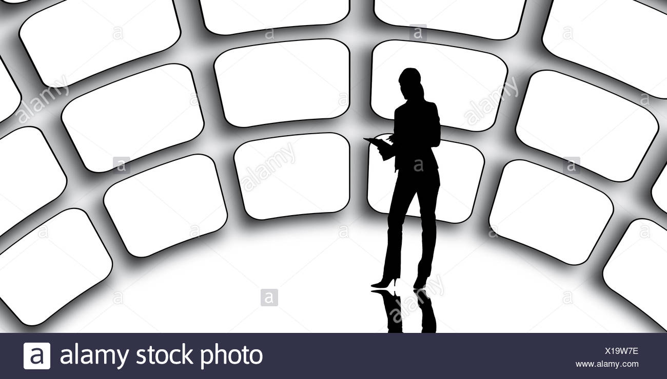 Video Wall - Stock Image