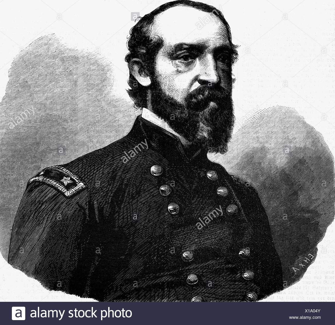 Meade, George G., 31.12.1815 - 6.11.1872, American General, Commanding Officer Army of the Potomac , Stock Photo