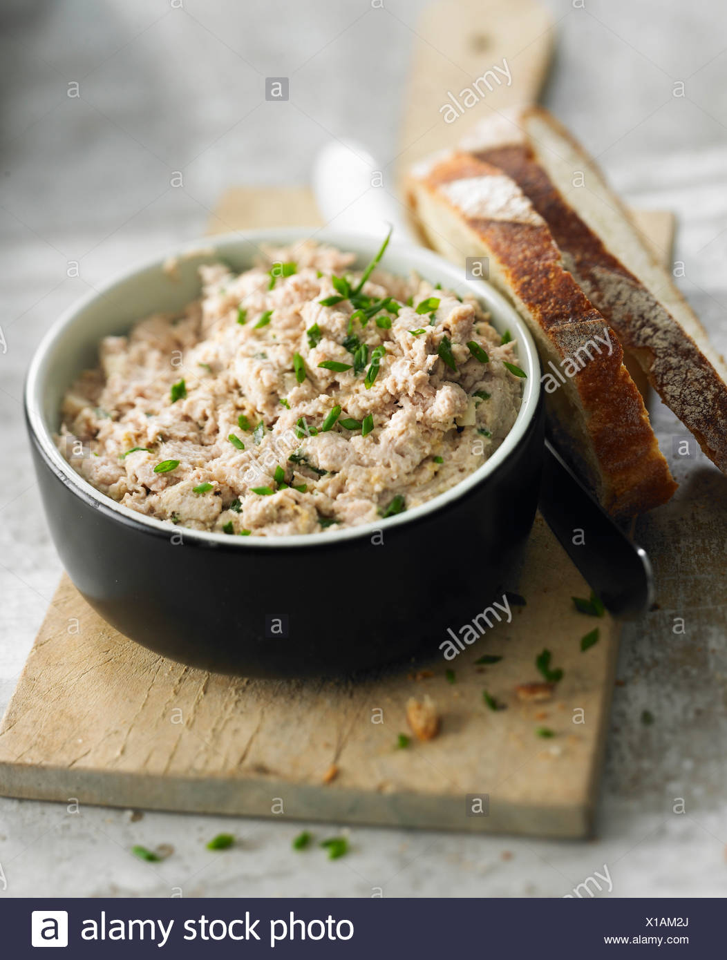 Low-fat potted meat Stock Photo