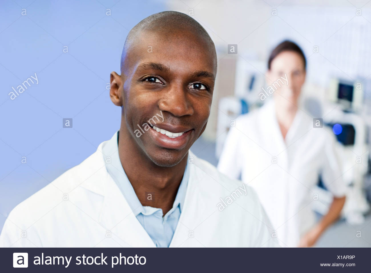 MODEL RELEASED Sports science researchers Stock Photo