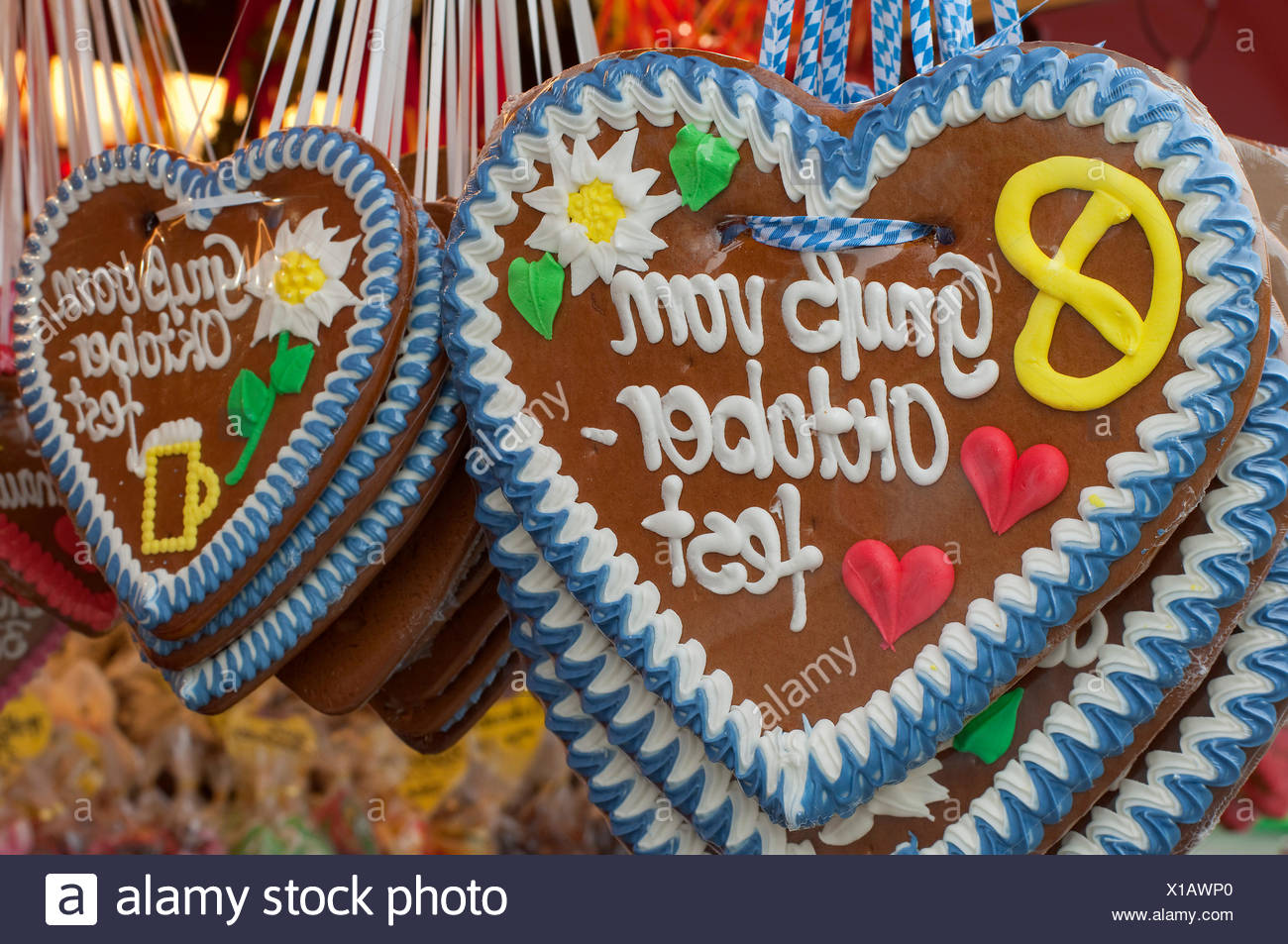 munich Octoberfest sweetness - Stock Image