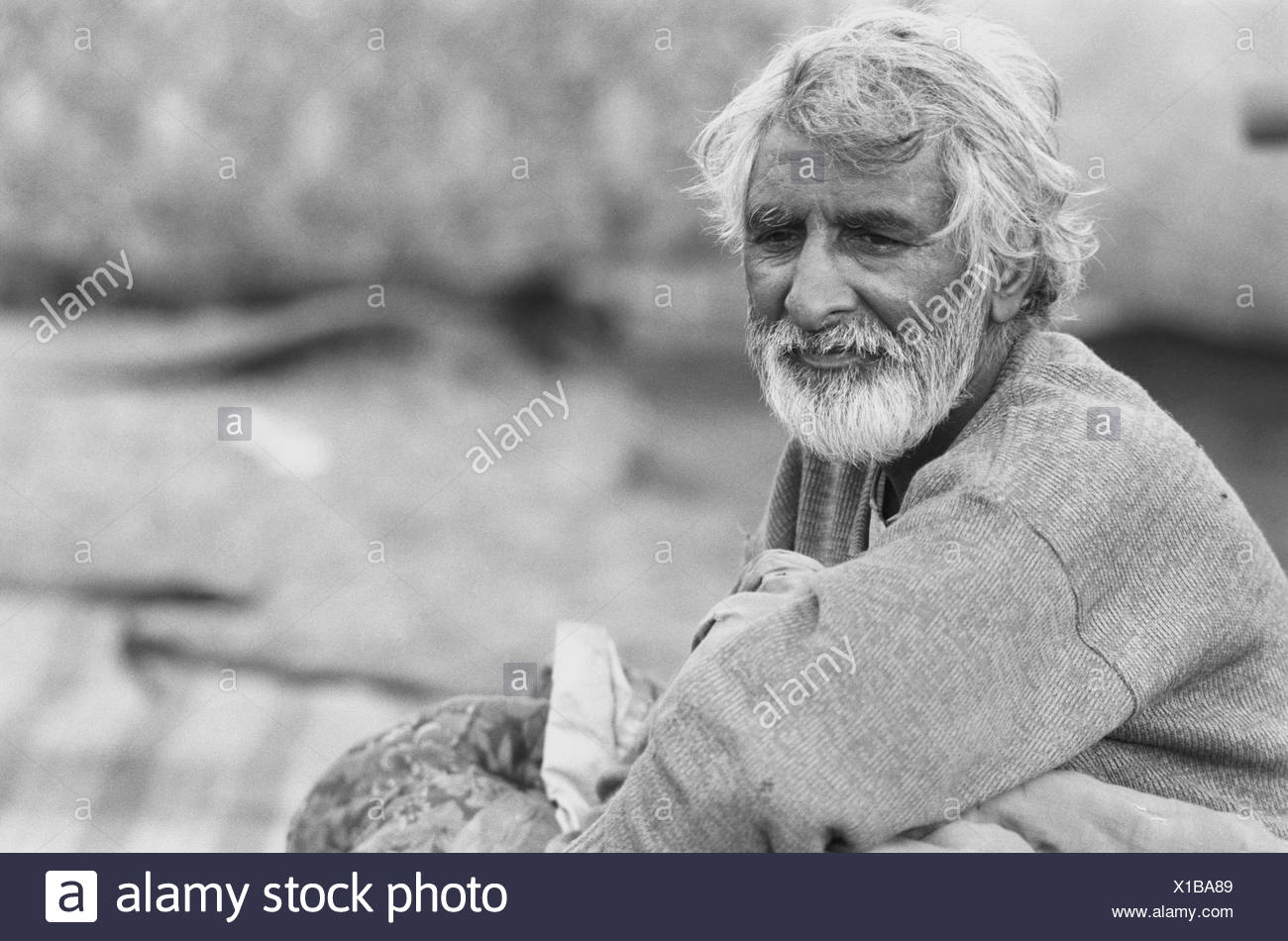 An old bearded man - Stock Image