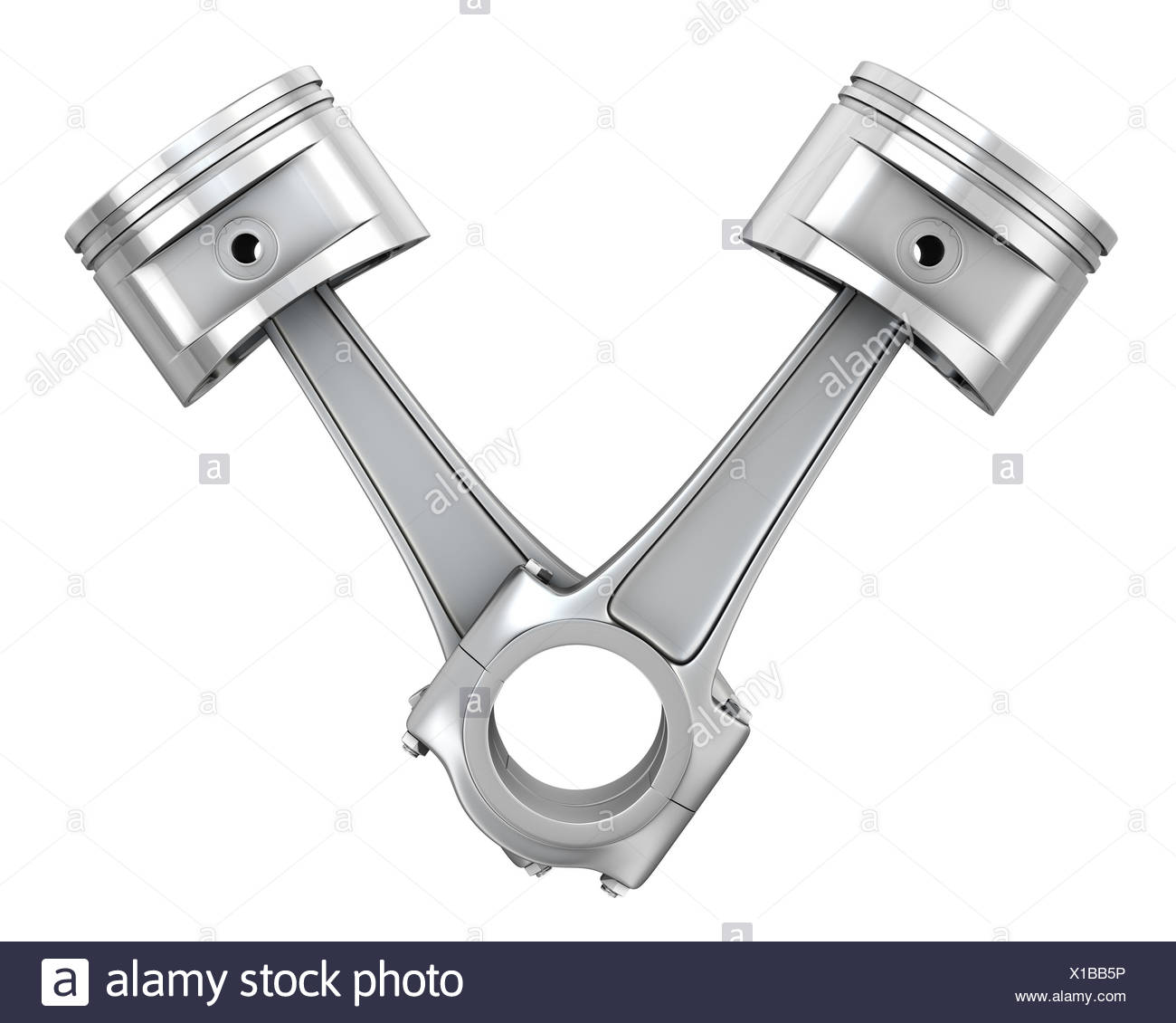 Two engine pistons - Stock Image