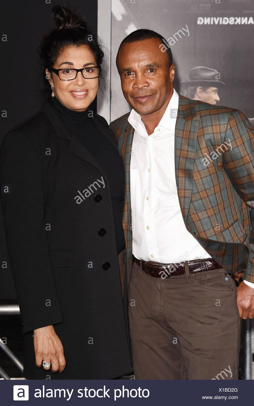 Wife Professional Former Boxer Bernadette LeonardlAnd Sugar Ray sdthCQr