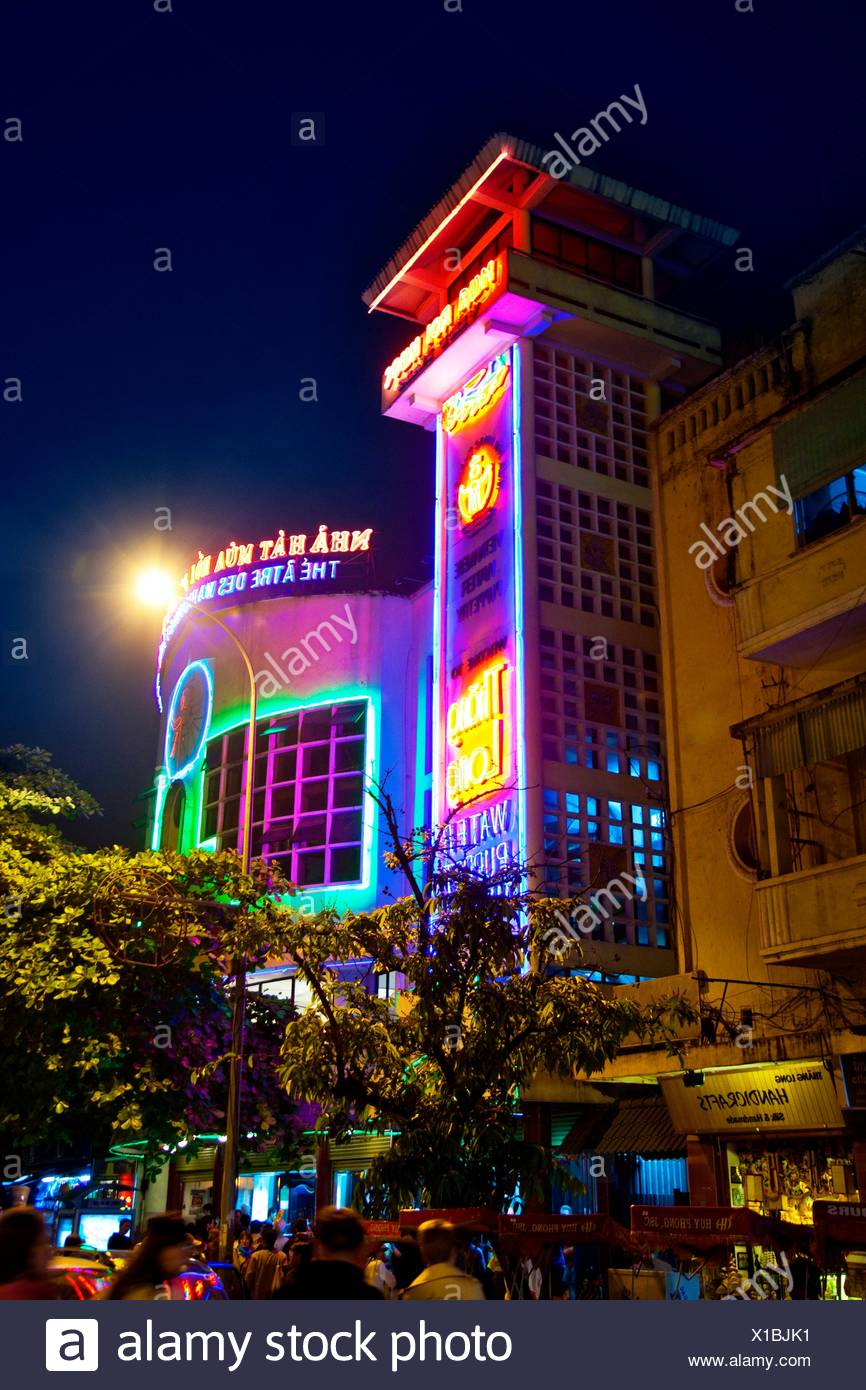 Roi nuoc Water Puppet originating in the Red River Delta in Theater Thang Long  Hanoi  Vietnam. - Stock Image