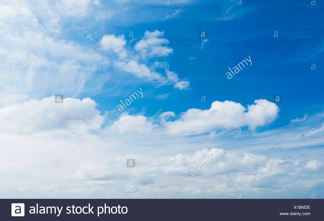 White clouds - Stock Image
