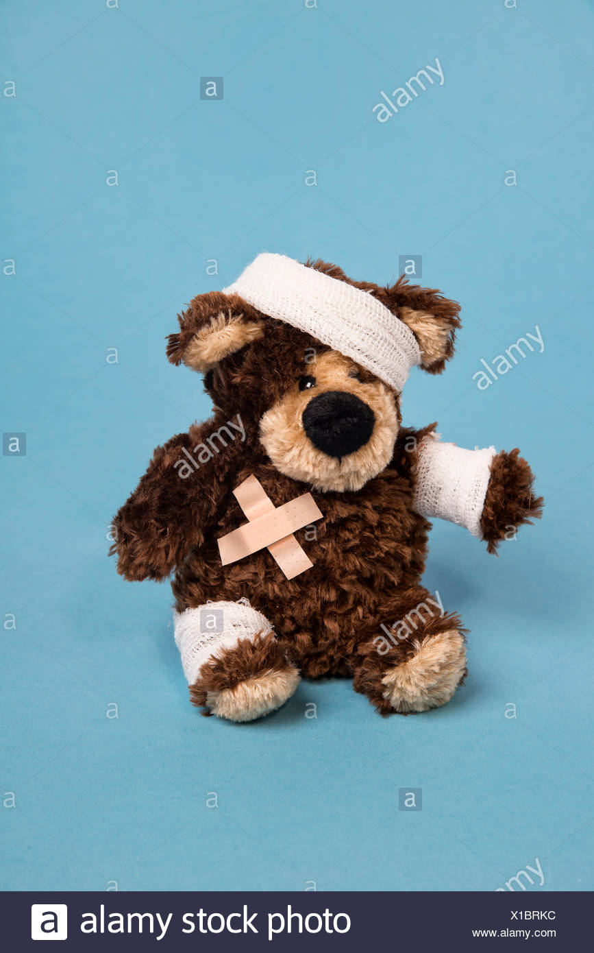 Teddy bear, organisation, plaster, - Stock Image