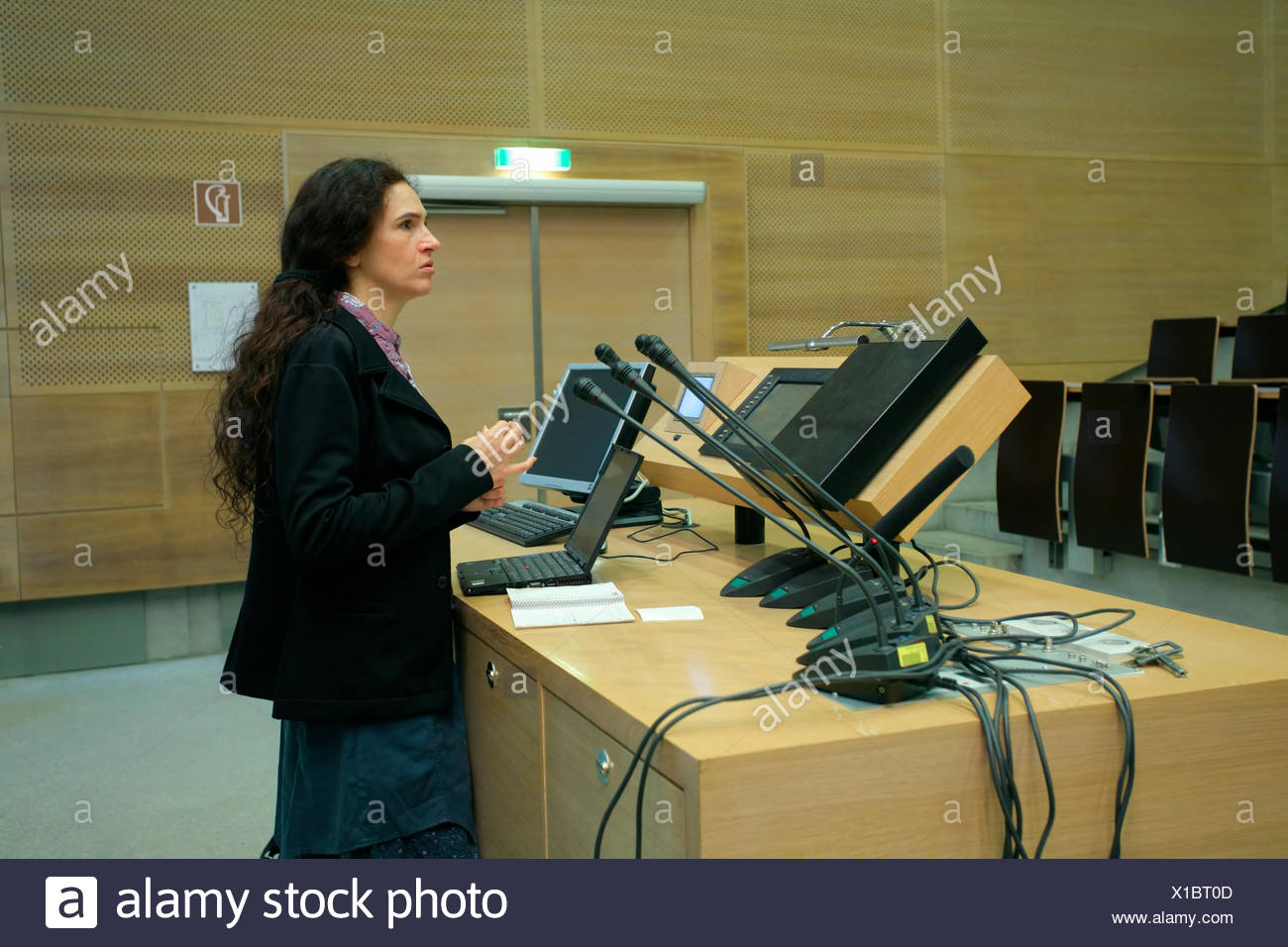 study instruct lecture room - Stock Image