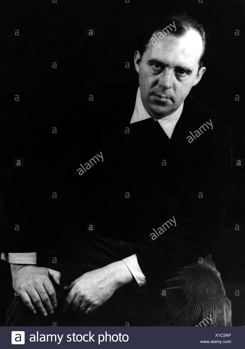 Böll, Heinrich  21.12.1917 - 16.7.1985, German author / writer, half length, , Additional-Rights-Clearances-NA - Stock Image
