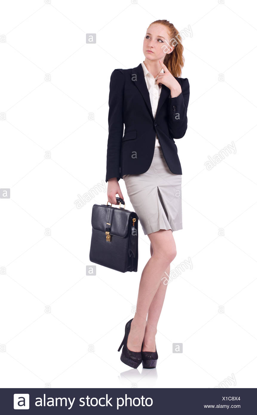 Woman businesswoman in business concept - Stock Image