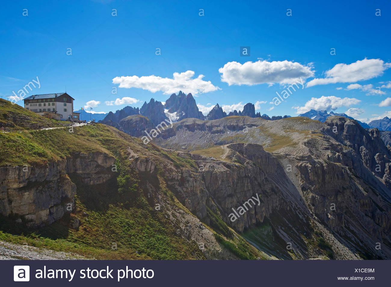 Italy, Europe, Trentino, South Tirol, South Tyrol, outside, Dolomites, mountains, mountain, landscape, mountainous, scenery, lan - Stock Image
