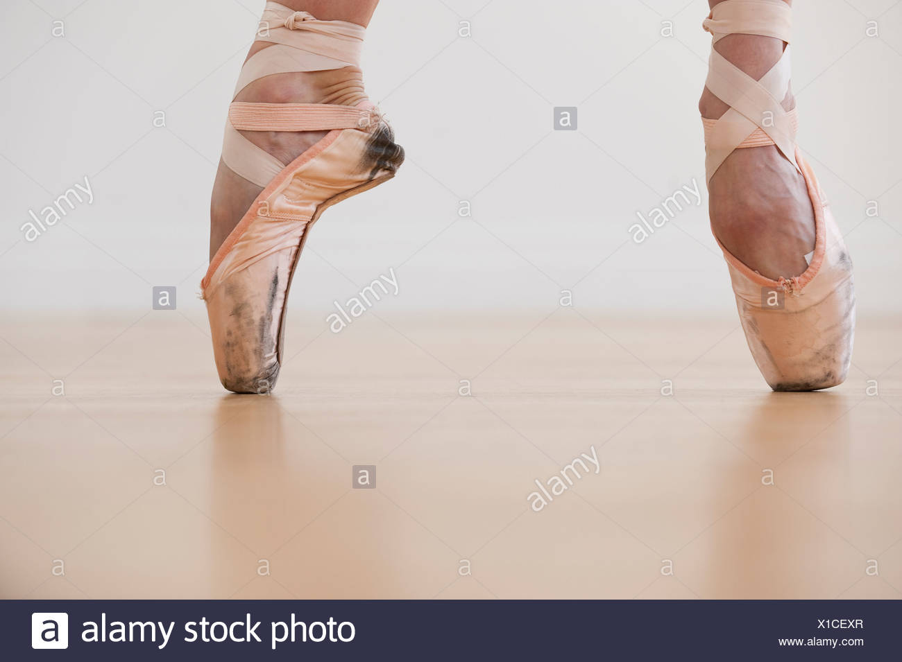 A female ballet dancer - Stock Image