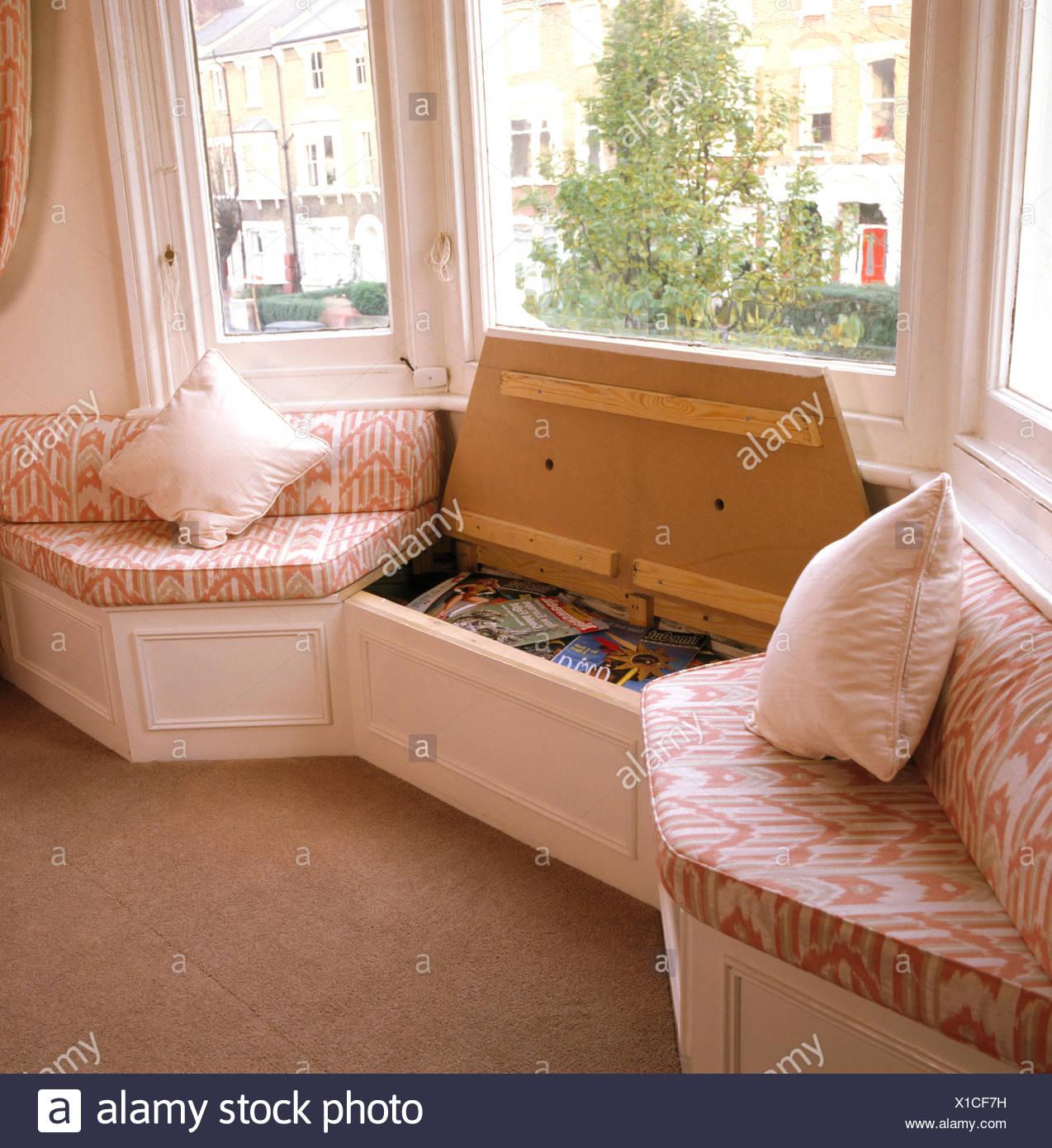 Magnificent Window Seat With Built In Storage In Eighties Living Room Uwap Interior Chair Design Uwaporg