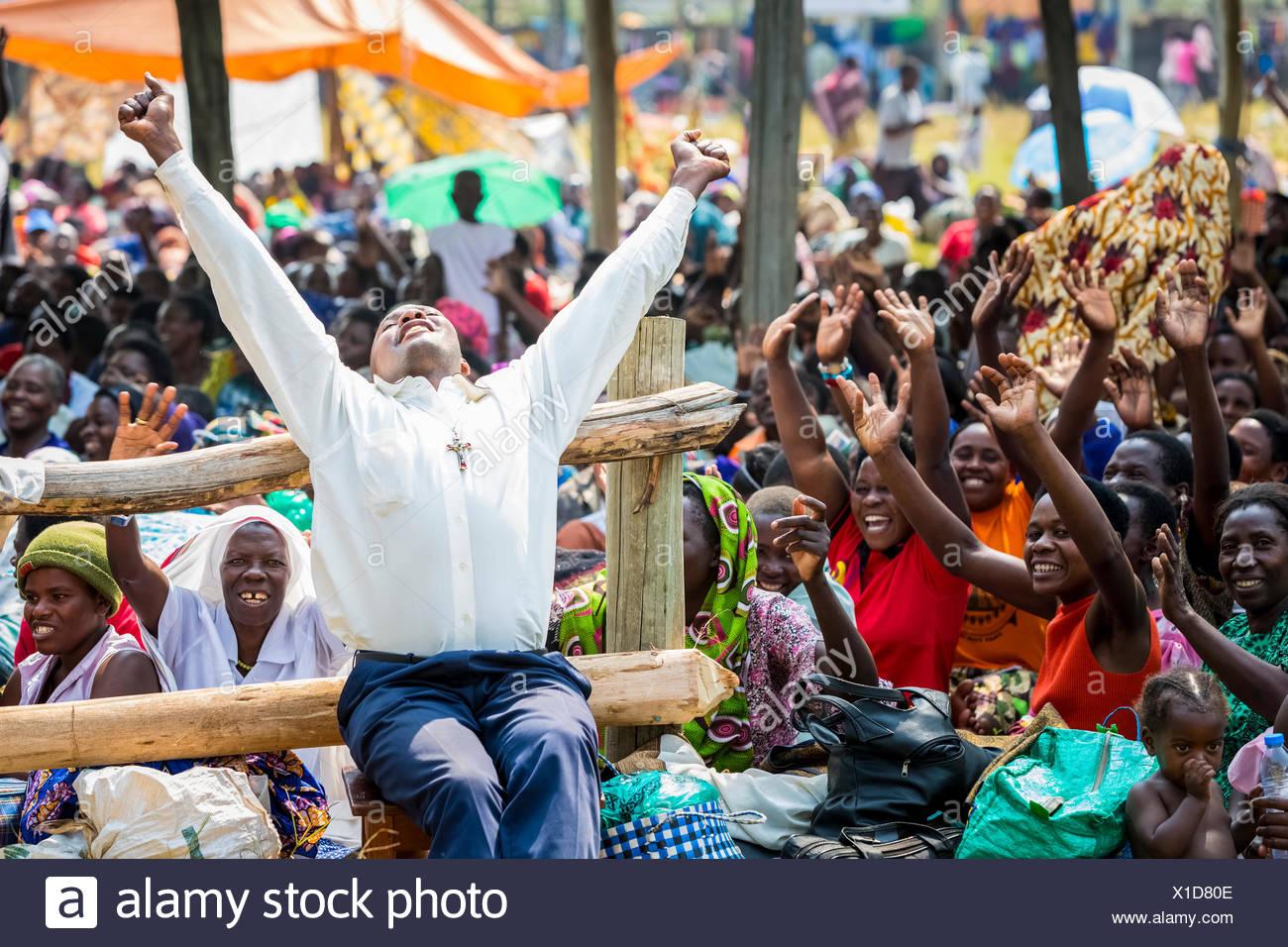 Catholic Charismatic Renewal; Uganda - Stock Image