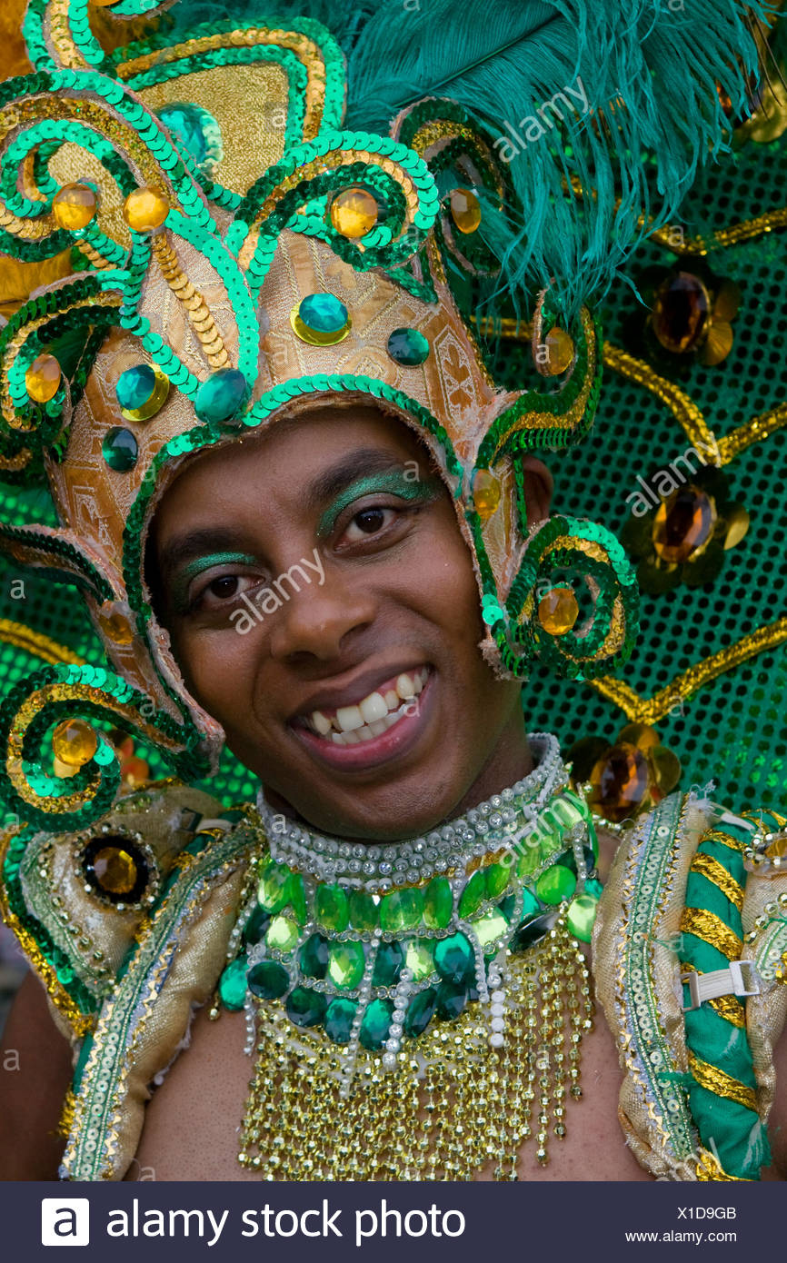 Young man, Amasonia group, Carnival of Cultures 2009, Berlin, Germany, Europe - Stock Image