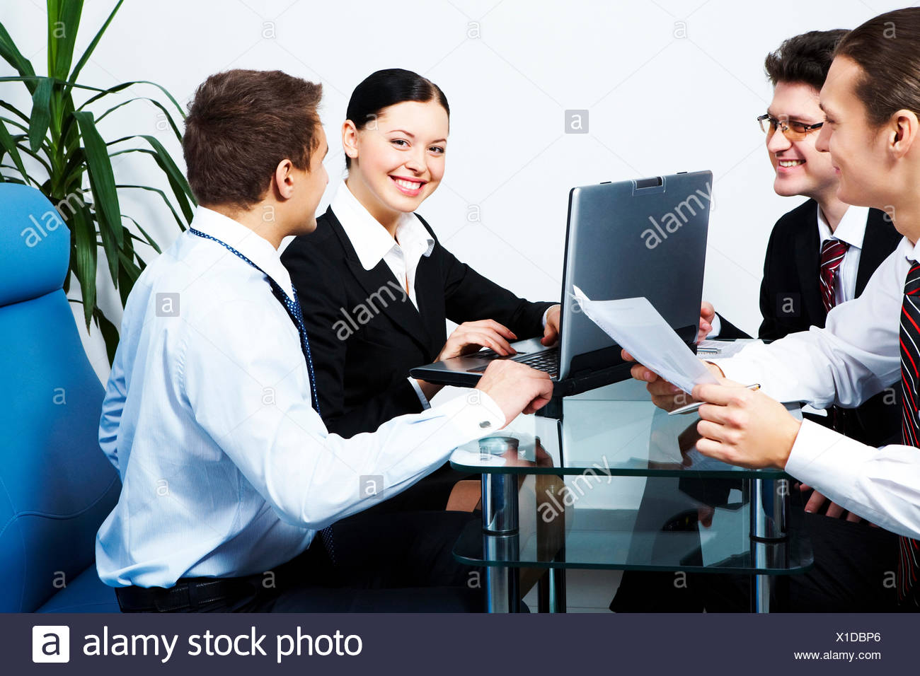 woman humans human beings people folk persons human human being some several a few laptop notebook computers computer laugh - Stock Image