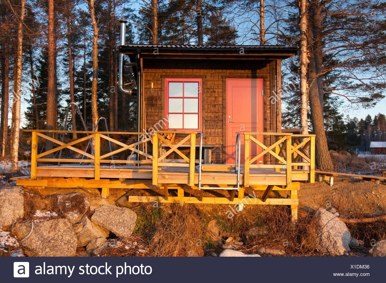 Sauna Northern Sweden. - Stock Image
