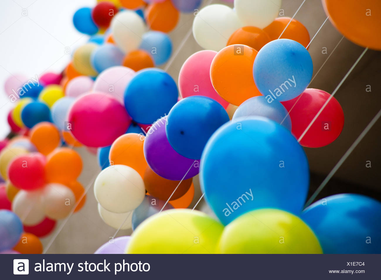 Blue Green Party Celebration Balloon Decoration Different