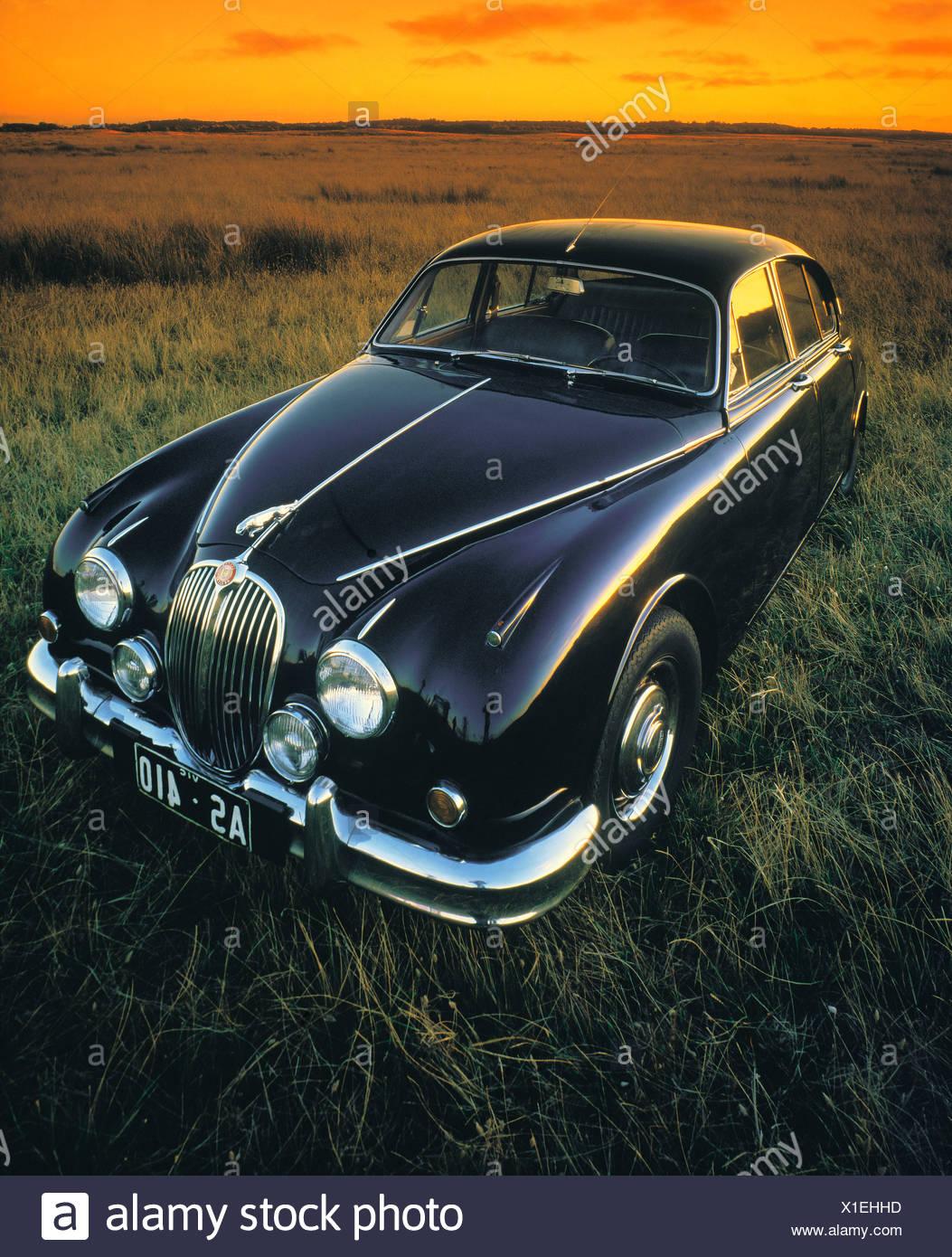1961 Jaguar Mk2 3.8 classic car.  British. - Stock Image