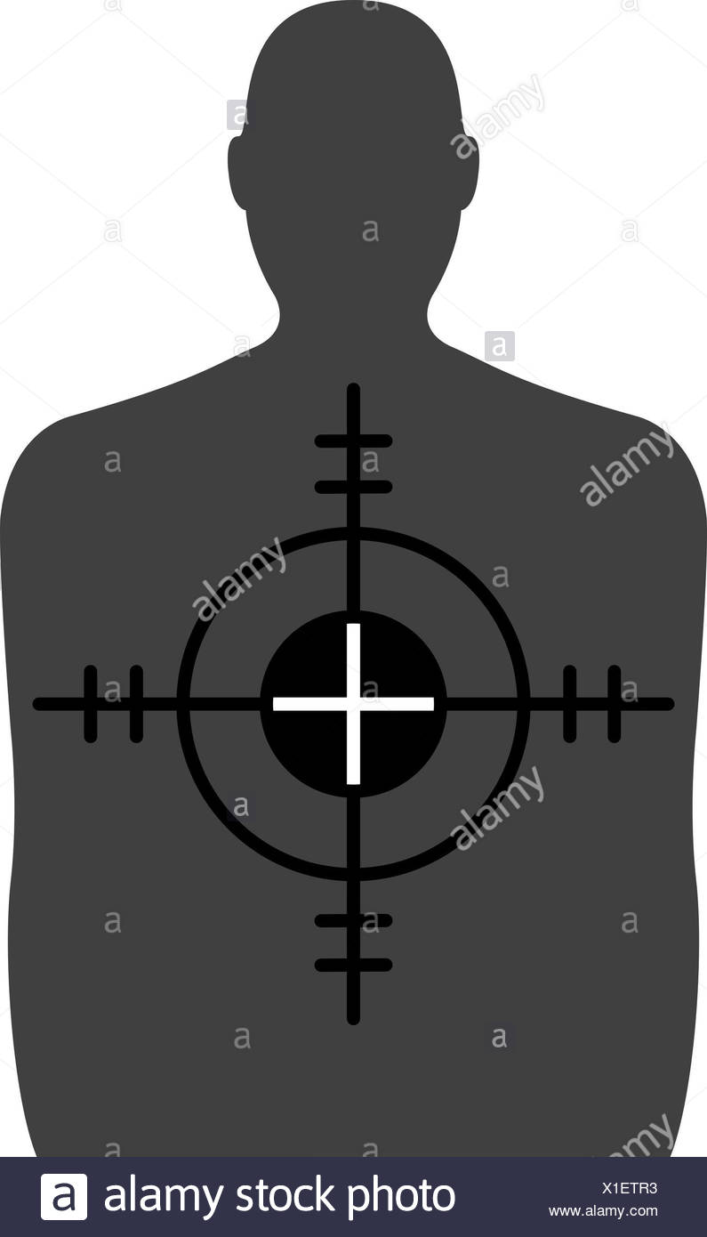 Target - A Shooting Range Target with Crosshairs - Stock Image