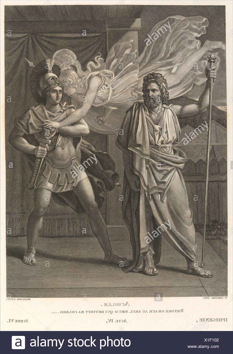 Oeuvres de Jean Racine. Author: Written by Jean Racine (French, baptized 1639-1699 Paris); Illustrator: Illustrated by Pierre Paul Prud'hon (French, - Stock Image