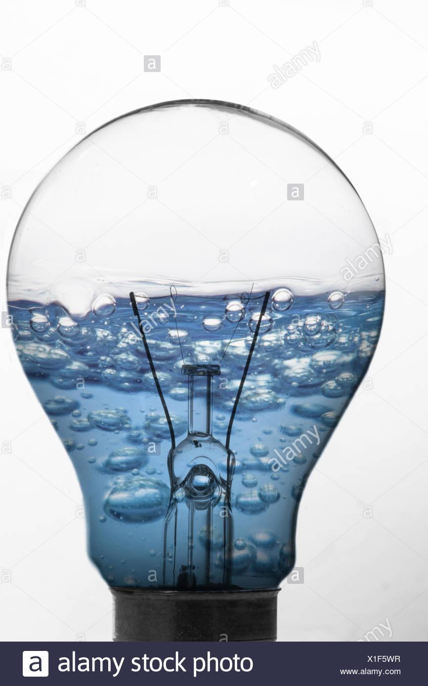 Blue Water Inside Light Bulb Stock Photos Blue Water