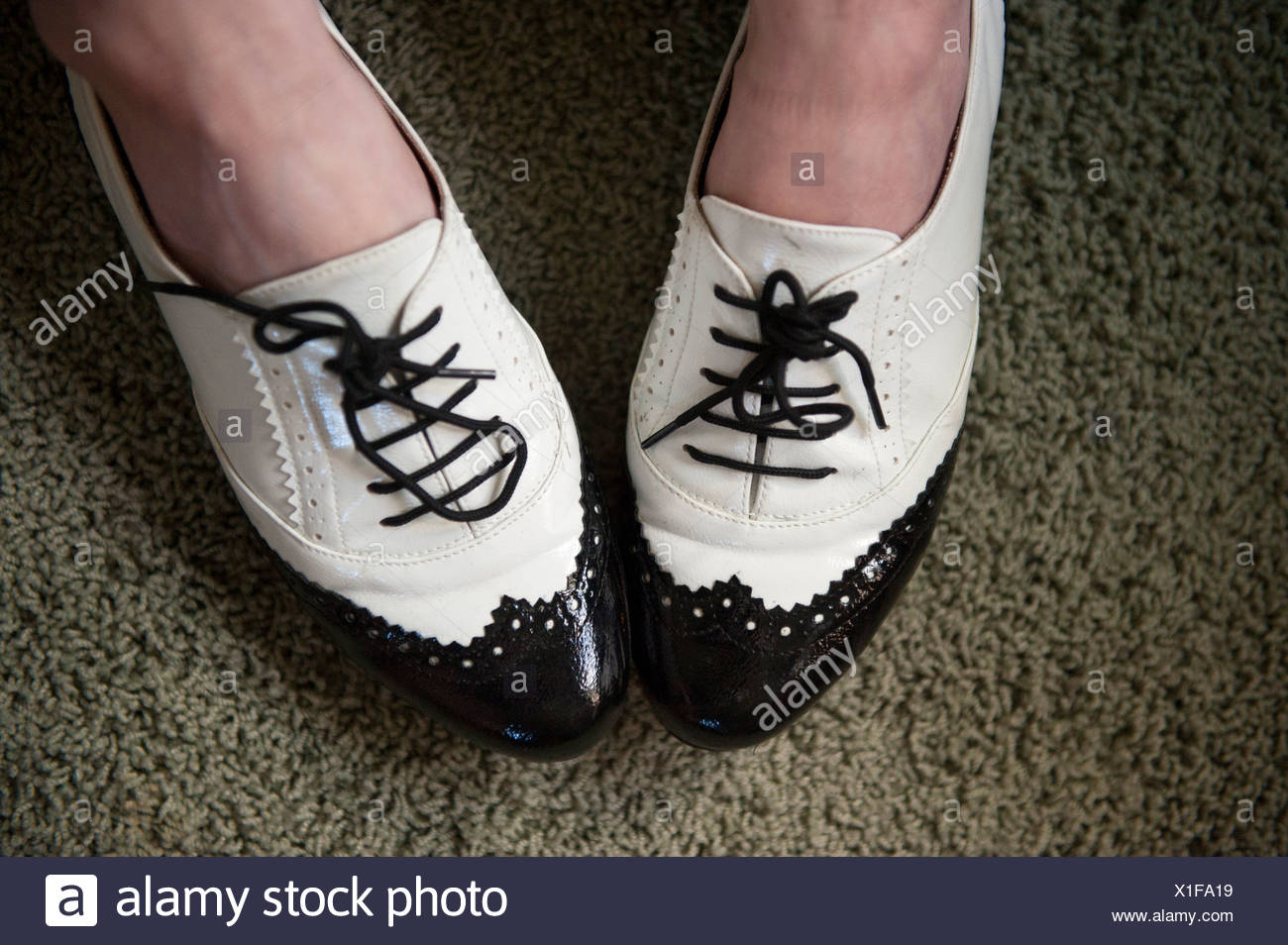 Close up of vintage shoes. - Stock Image