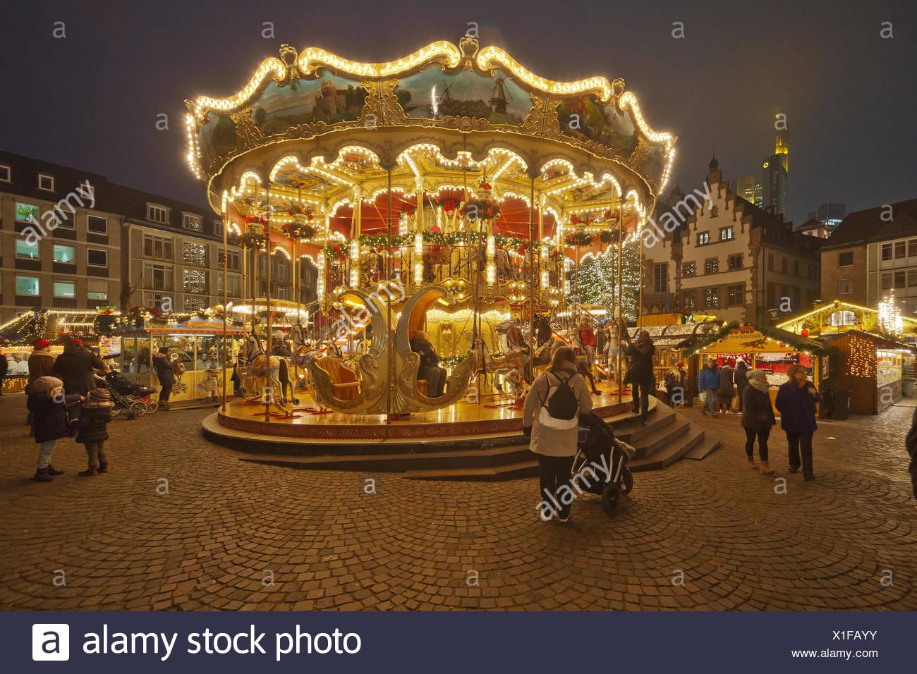 Weihnachtsmarkt Frankfurt Main.Weihnachtsmarkt Christmas Market Frankfurt Germany Stock Photos