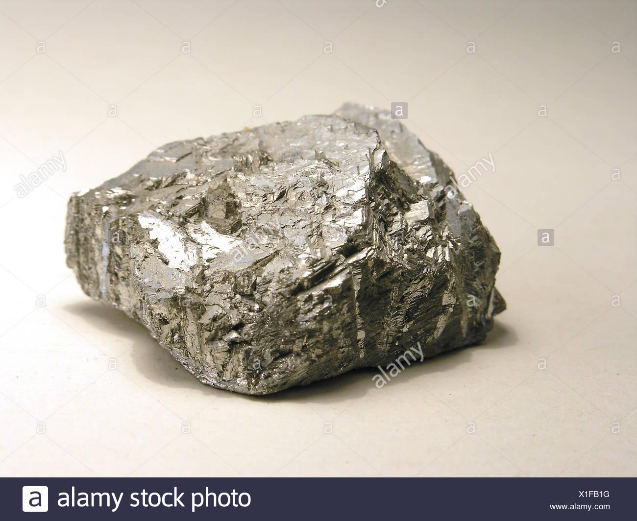metal raw material chromium raw materials natural resources cristalline ore Stock Photo