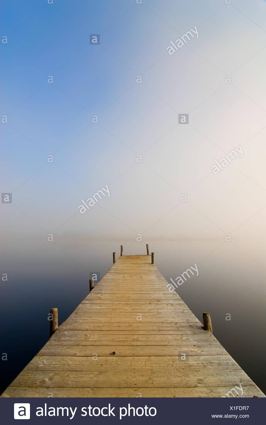fog sunrise tomorrow fog - Stock Image