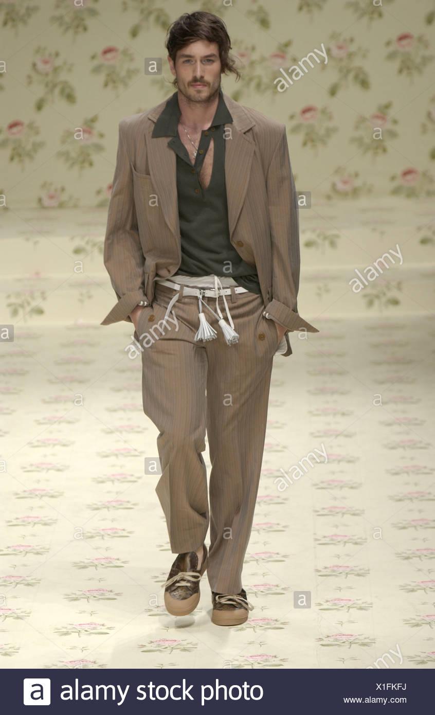 df633e737f2 Vivienne Westwood Ready to Wear Milan spring summer Menswear fashion show  Model dark hair and stubble