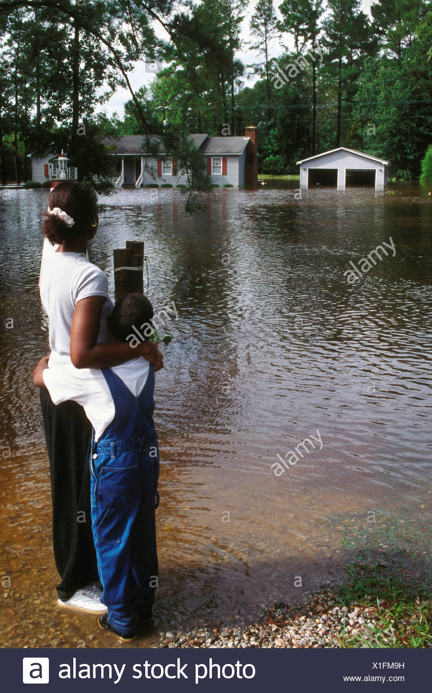 Flooding During Hurricane Floyd - Stock Image