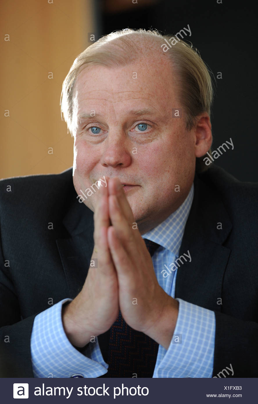Berlin, Germany, Tuomo Hatakka, Vattenfall Europe AG, in an interview - Stock Image