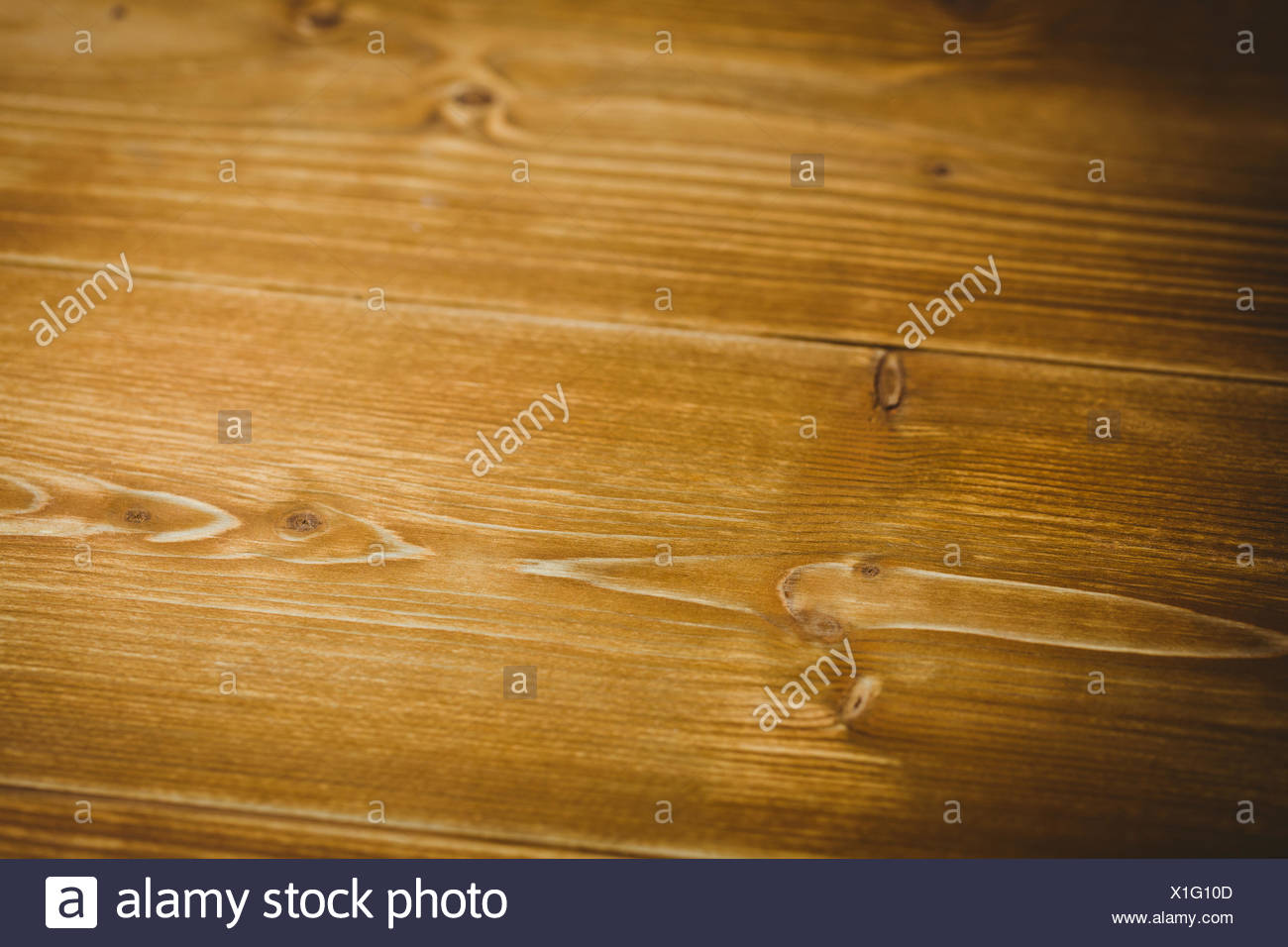 Overhead wooden table - Stock Image